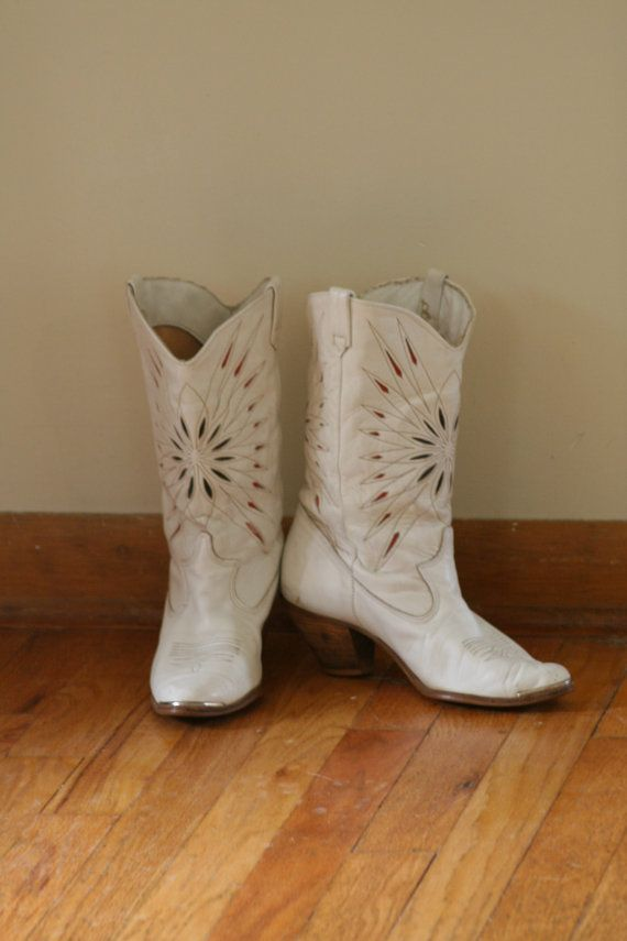 white cowboy boots - deck out with glitter  & rhinestones
