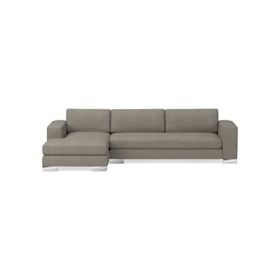 Yountville Sectional, Left 2-Piece L-Shape Loveseat with Chaise, Standard Cushion, Woven Geometric, Natural, Metal Feet  – Products