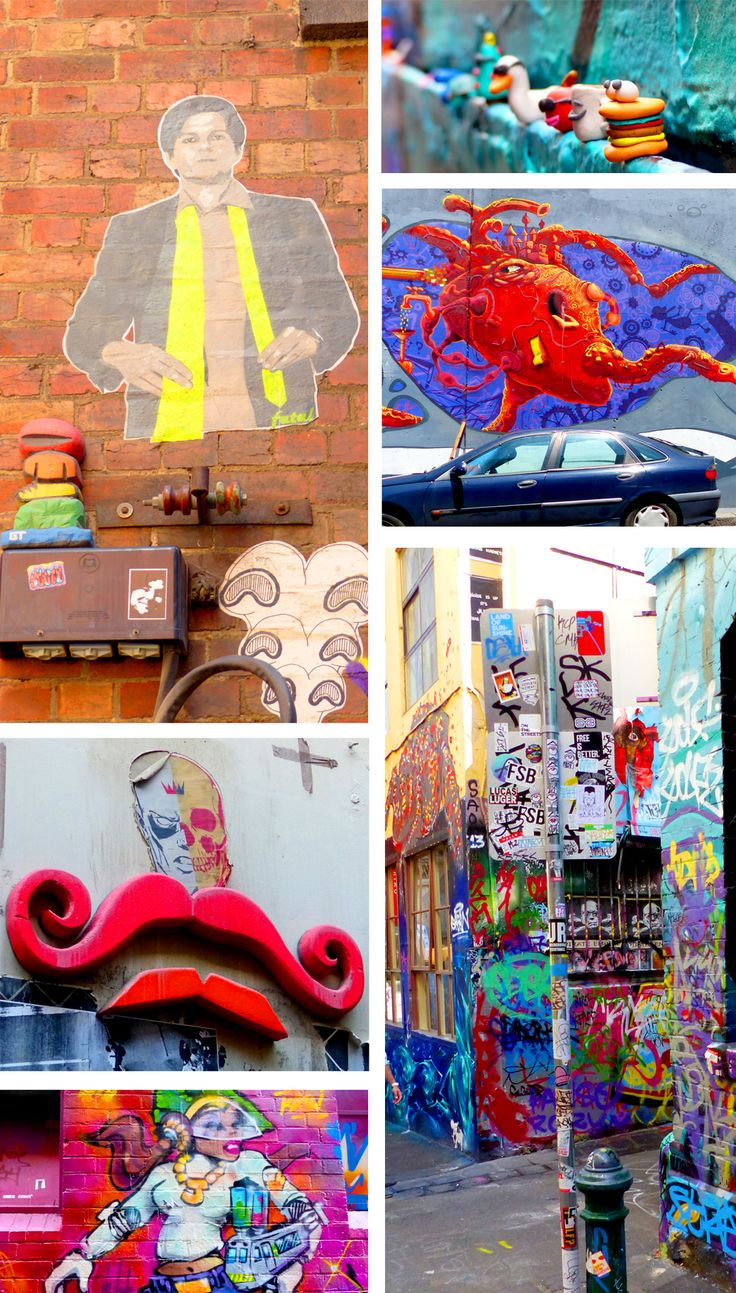 Melbourne Graffiti around town