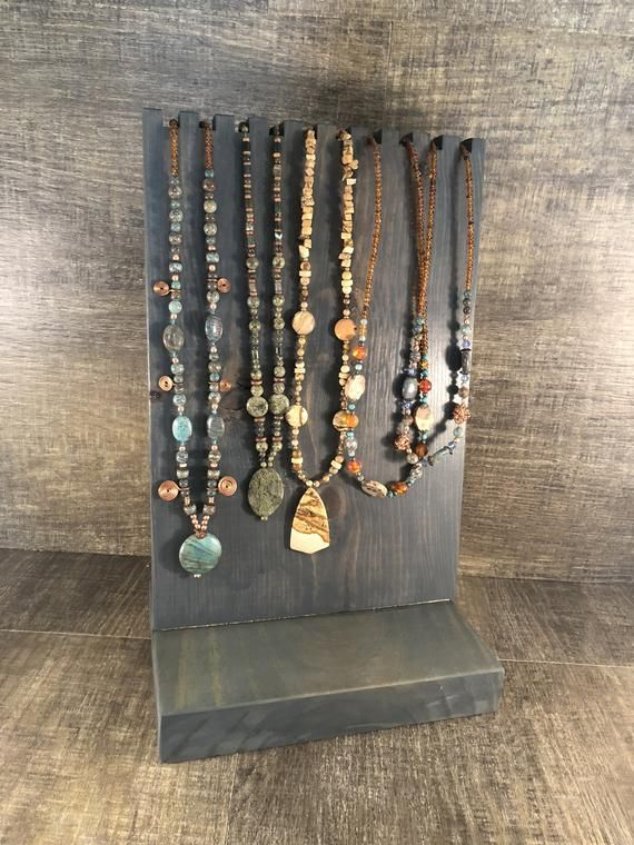 Large Bead Necklace Display Stand Holder Etsy