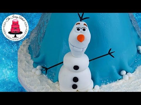 3D Frozen Olaf Out Of Fondant, Elsa Cake - How To With The Icing Artist - YouTube
