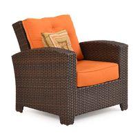 Kokomo Outdoor Wicker Lounge Chair Tortoise Shell