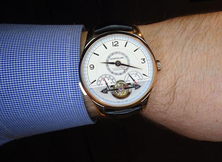 Montblanc Heritage Chronométrie ExoTourbillon Minute Chronograph en la muñeca