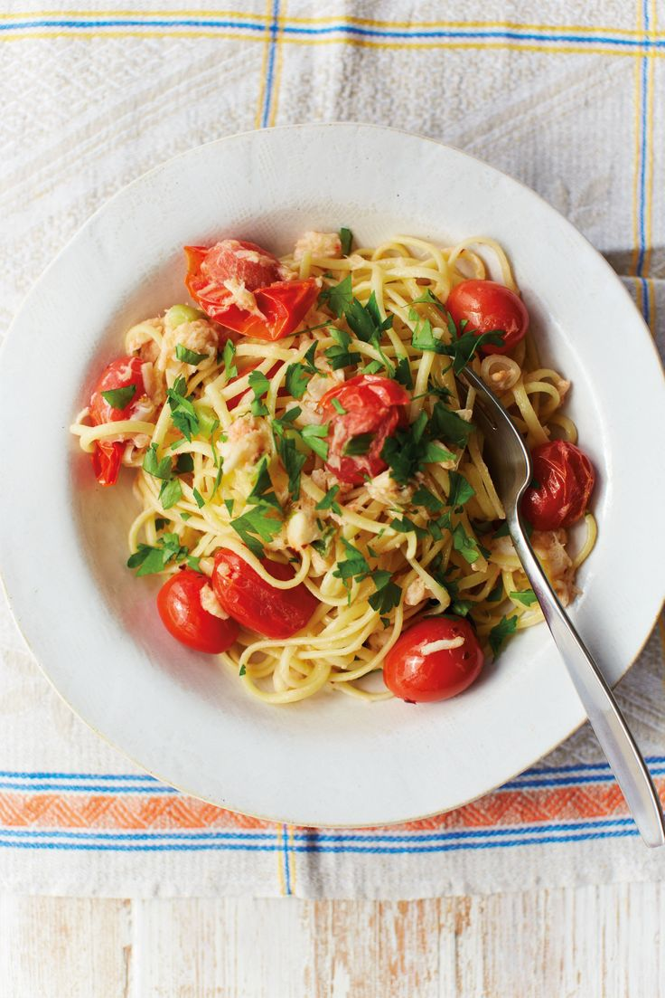 Creamily quick crab linguine recipe from Recipes From a Normal Mum by Holly Bell | Cooked.com