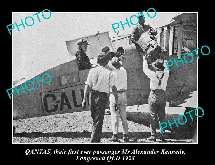 QANTAS AIRLINES 1st PASSENGER, LONGREACH QLD 1923