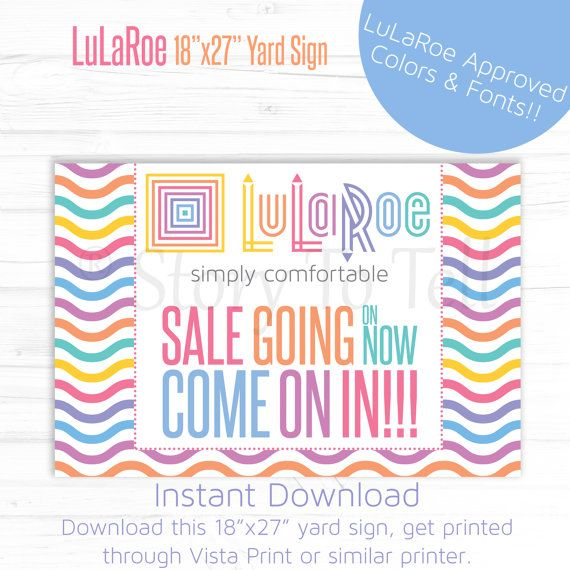 LuLaRoe Approved Font & Color Yard Sign - DIY Print - Sale Going On Now Come On In - Lawn Sign - Sale Sign - Clean Waves