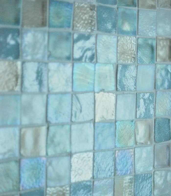 Sea Glass Tile Back Splash... Love The Color    Want Larger Tiles