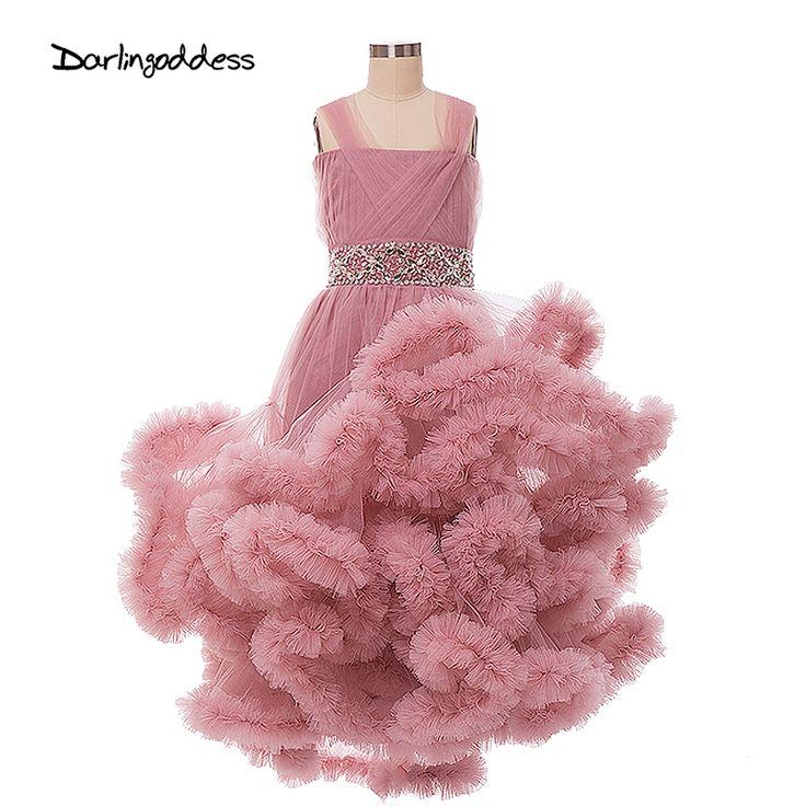 クラウド花女の子のドレス結婚式のため子供ページェントドレス初聖体のドレス女の子セクシーなパーティーウエディングドレス2017