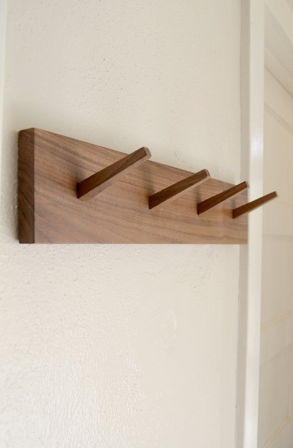 Pin On Parkave, Peg Wood Wall Mounted Coat Rack