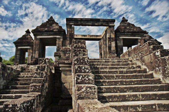 Ruins of Ratu Boko Temple, Jogyakarta, Central Java, Indonesia