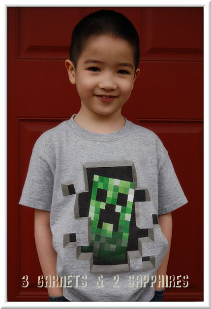 3 Garnets & 2 Sapphires: Find Minecraft and Other Cool Kids T-Shirts at T-Shirts.com!