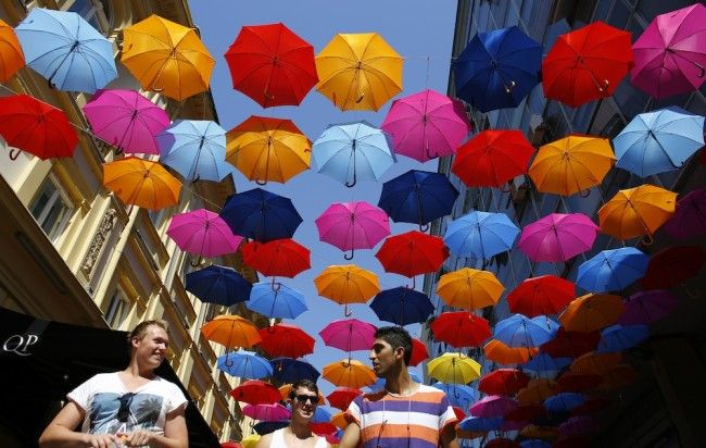 #Belgrade Umbrella Artwork