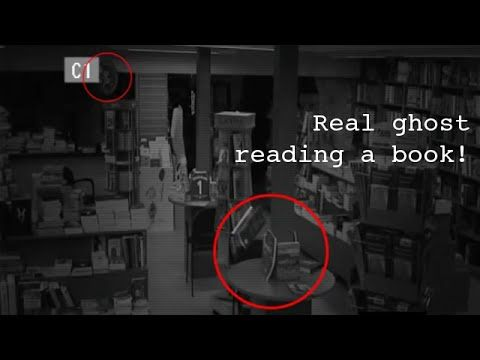 GHOST VIDEOS a real ghost caught on tape in haunted store   Scary ghost ...