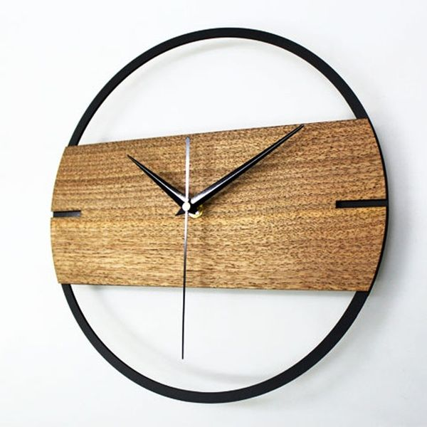 Vintage Wall Clock Simple Modern Design Wooden Clocks For Bedroom 3d Stickers Wood Wall Watch Home Decor Silent 12 Inch Wish Wall Clock Wooden Wall Clock Simple Minimalist Wall Clocks