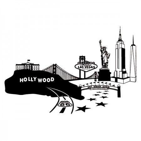 Die Vereinigten Staaten von Amerika, kurz auch Amerika, ist ein Gesamtstaat was aus 50 Bundesstaaten besteht. Zu den beliebtesten Städten gehören New York, Las Vegas, aber auch Boston und Chicago. #Amerika #Skyline #Stadt #Wadeco // http://www.wadeco.de/skyline-amerika-america-wandtattoo.html