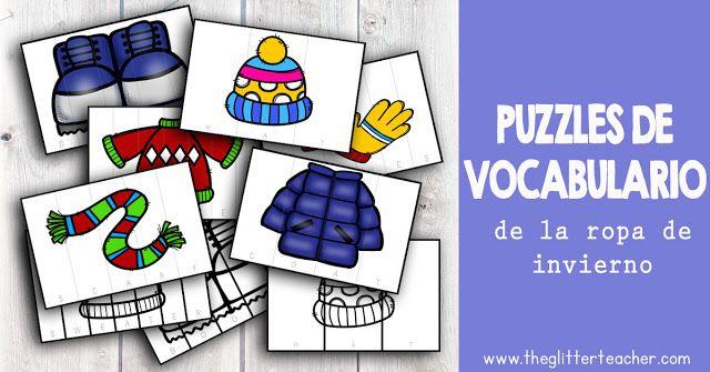 6+ puzzles de vocabulario de ropa de invierno