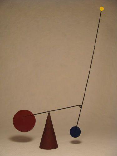 Mobile Sculpture Signed Magid Handmade Wire Geometric Kinetic Wind   eBay