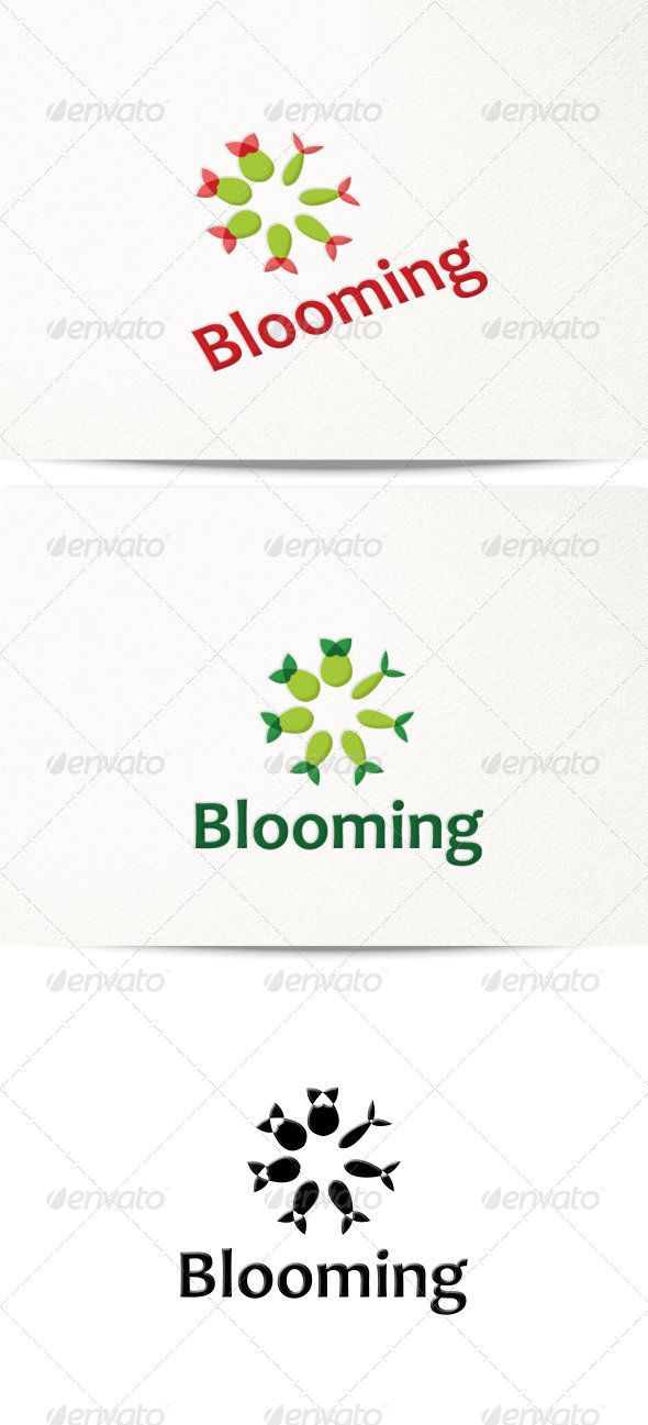 Blooming  #GraphicRiver         Great logo design for floral related business but also very suitable for a growing and flourishing company.   File of all three color variations contains: EPS and AI vector Transparant PNG   Colormode: CYMK   Fully editable and customizable.  Used font: Candara  .fontpalace /font-details/Candara+Bold/  You can contact me for text or color modifcations (for an additional fee) or other questions: jolande@regarddesign    Please rate if you like it…