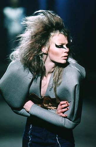 """Alexander McQueen Fall/Winter 1997 YOU JUST KNOW SHE'S SAYING """"WHERE IN GAWD'S NAME WOULD YOU WEAR THAT??"""""""