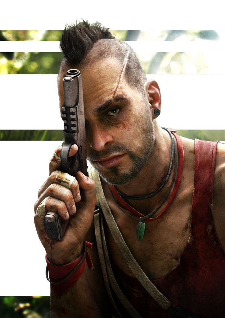 Artwork of Vaas Montenegro for Far Cry 3