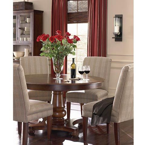 54 Round Pedestal Table In 30 Finishes By Bassett