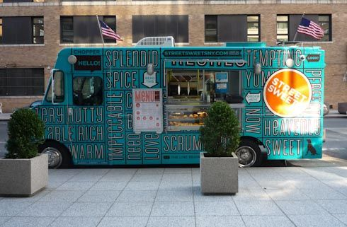 It's impossible to walk through New York and not come across food trucks- they're such a big part of city life! The truck in the picture is called Sweetery, and has some of the best cookies in NYC!