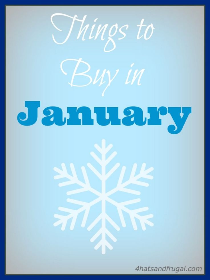 Wondering what will be the best deals at the beginning of the year? Here is a list of the 7 best things to buy in January.