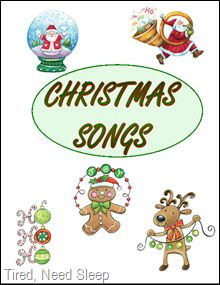 Christmas Song Book - free printable song book with the words to 12 top Christmas songs including The First Noel, Silent Night, Rudolph The Red Nosed Reindeer, Deck the Halls, plus 8 more - super cute
