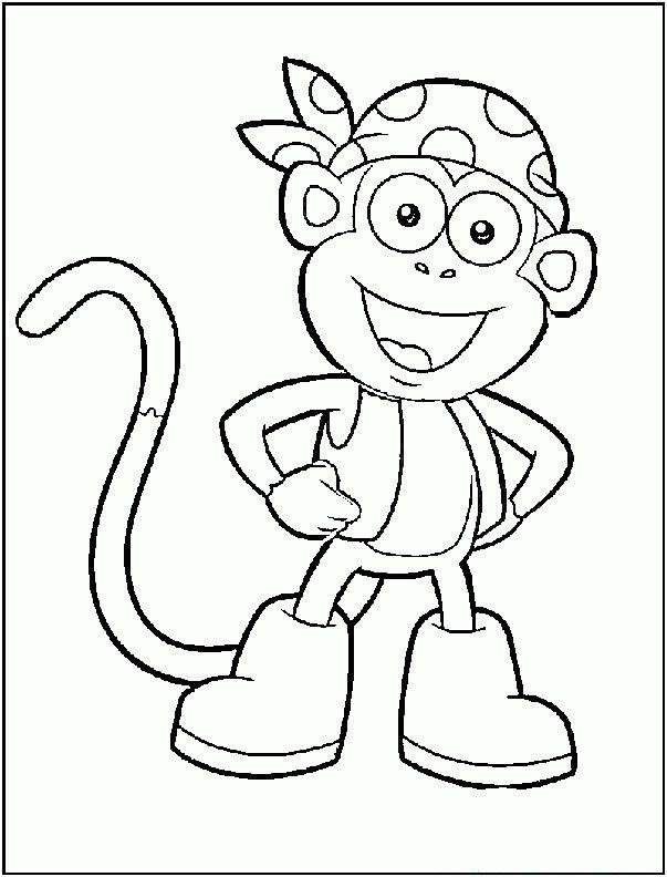 19 best Dora The Explorer Coloring Pages images on Pinterest ...