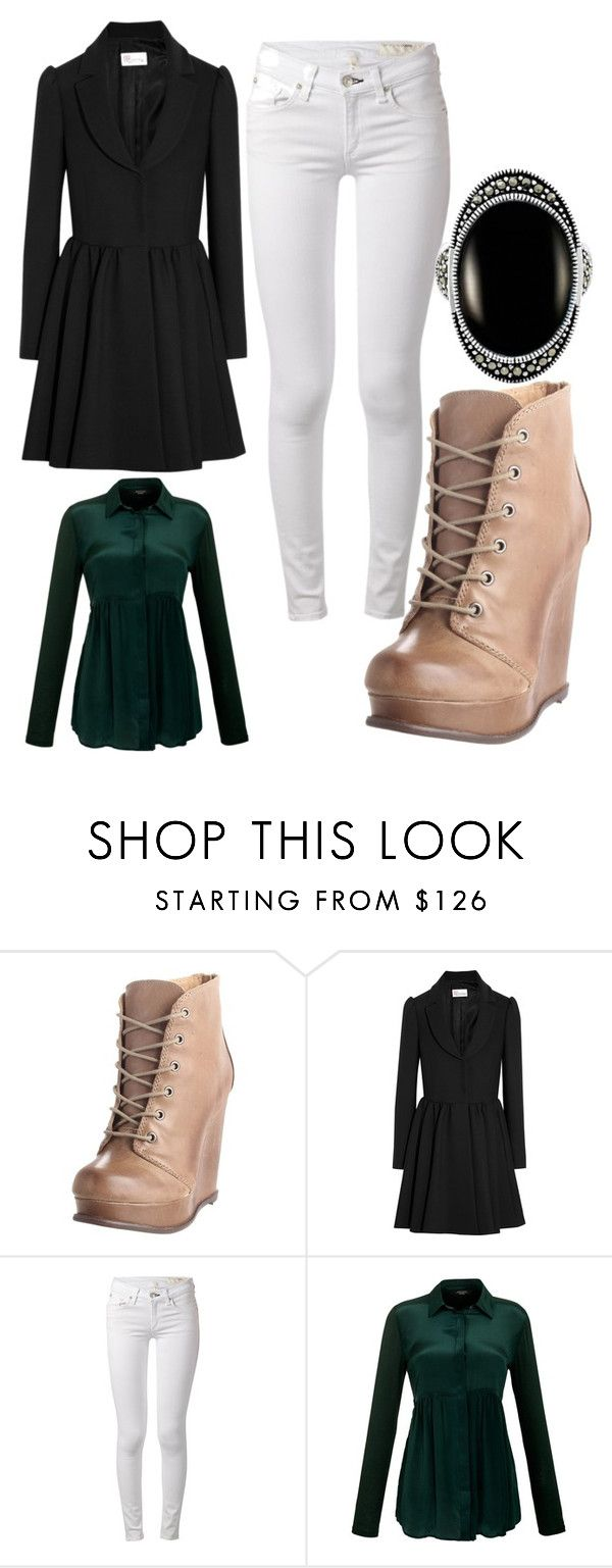 """""""Classy Casual Slytherin"""" by elli-jane-xox ❤ liked on Polyvore featuring Steve Madden, RED Valentino, rag & bone, Weekend Max Mara and Le Vieux"""