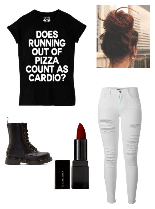 """""""Untitled #22"""" by skirmantesatkute ❤ liked on Polyvore featuring Frame Denim, Dr. Martens and Illamasqua"""
