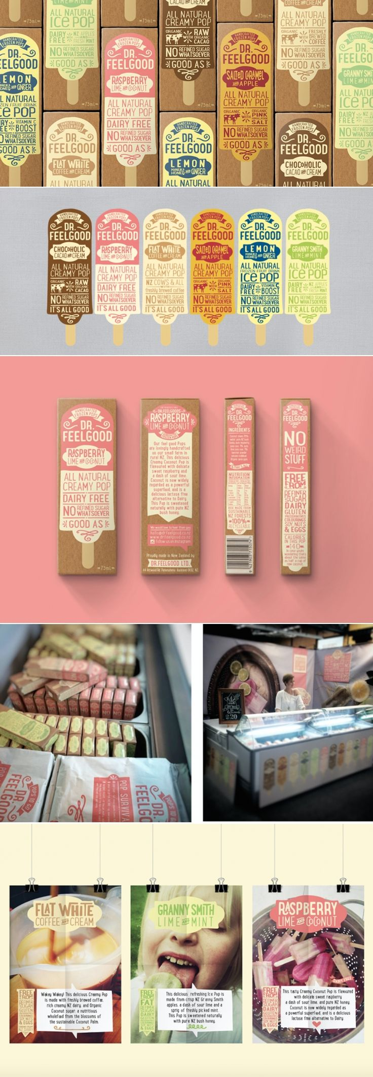 Dr.Feelgood Frozen Pops — The Dieline | Packaging & Branding Design & Innovation News
