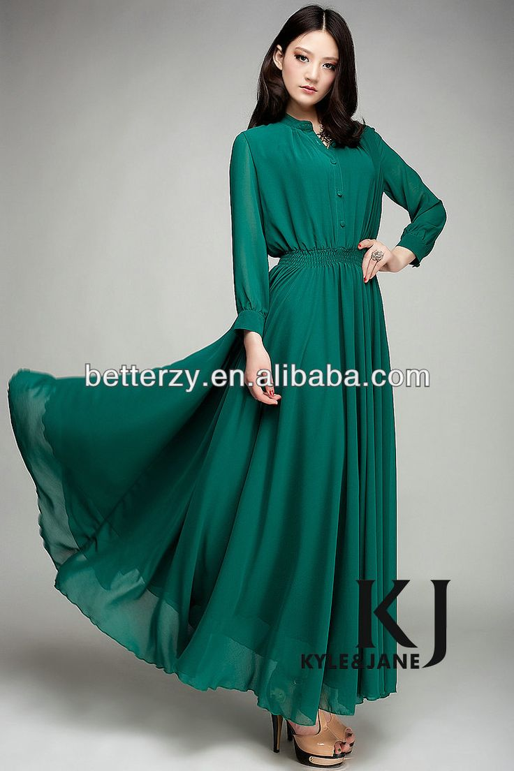 ( KJ - WAB 701 ) chiffon long women fashion dress muslim clothing modest women abaya