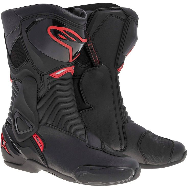ALPINESTARS SMX-6 Road/Track Motorcycle Boots (Black/Red) EU 40
