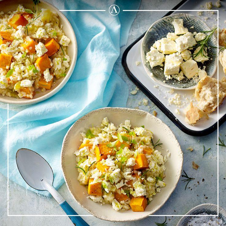 Roasted Pumpkin, Leek & Fetta Risotto   #summerrecipes #easyrecipes #Mediterranean #cheese #Lemnos