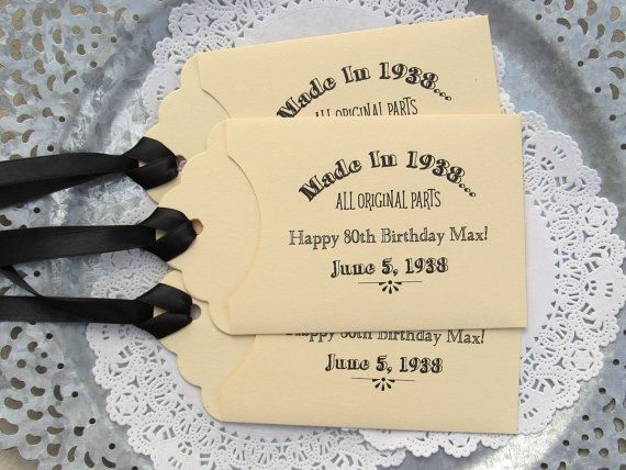 Party Favors For 80th Birthday Ideas