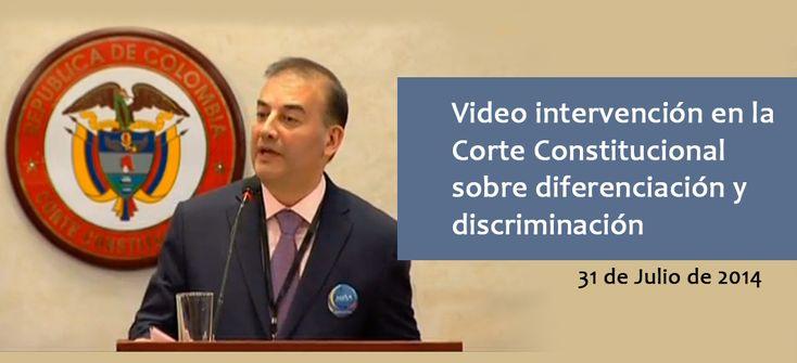 Intervención Dr. Carlos Alberto Baena L. sobre diferenciación y discriminación
