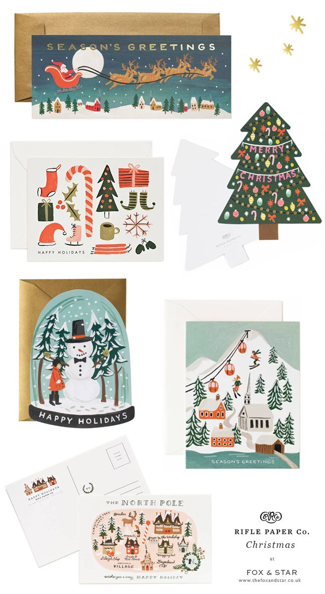 Beautiful Rifle Paper Co Christmas cards