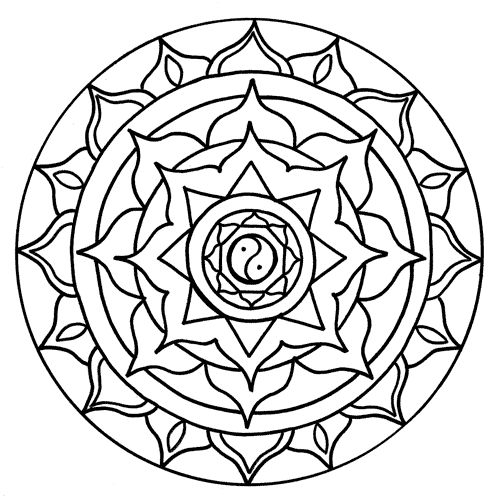 chakra symbols coloring pages - photo#37