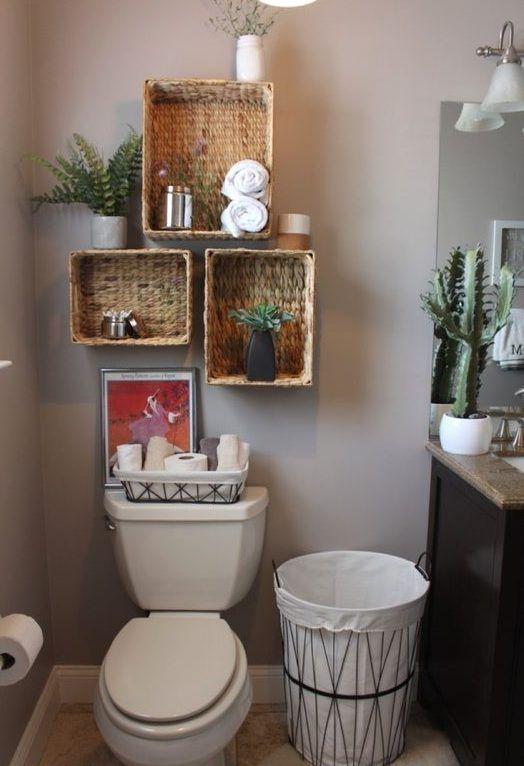 Fabulosas ideas para decorar tu baño pequeño   Estantes de ...