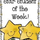 Star Student of the Week (take-home-bag and classroom set up)