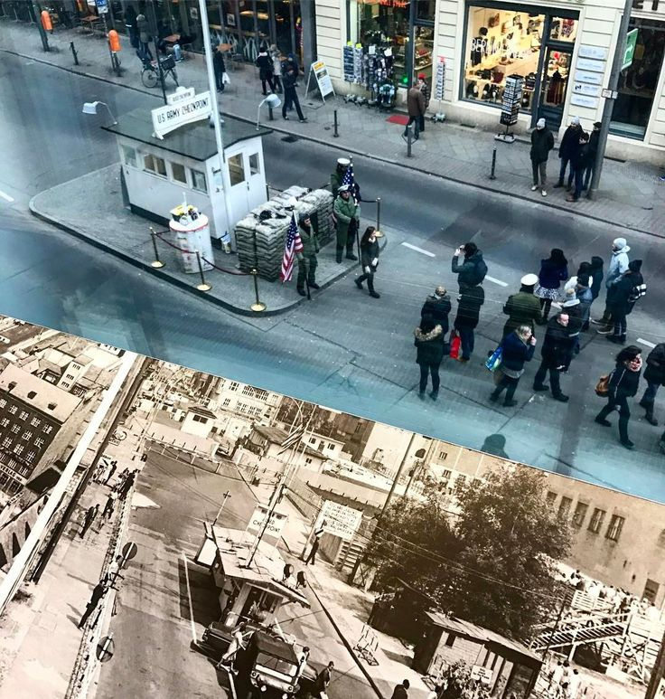 Checkpoint Charlie in Berlin - now and then  #berlin #berlinwall #checkpointcharlie #secondworldwar #danishadventurer