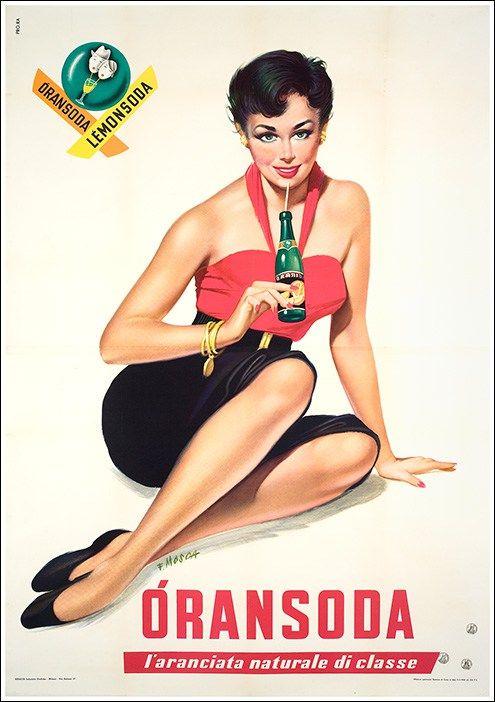 Oransoda, Lemonsodamanifesto #vintage #original #poster www.posterimage.it