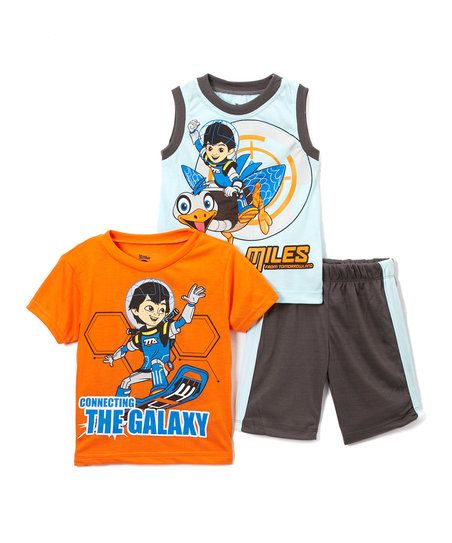 Childrens Apparel Network Miles from Tomorrowland Orange Tee Set - Toddler | zulily