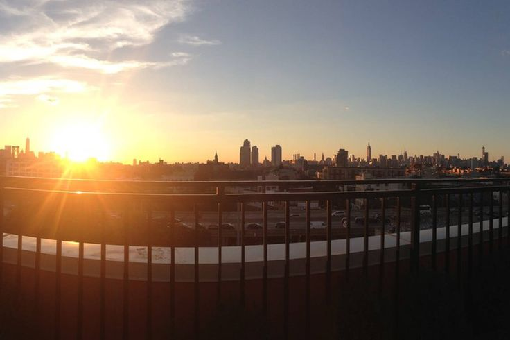 The view from our furnished roof deck: You can see the WTC/ Freedom Tower and Brooklyn Bridge all the way to  Chrysler Building, Empire State Building and beyond.