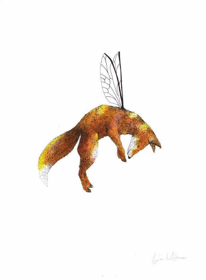 Jolene #fox #animal #nature #wildlife #art #illustration #painting