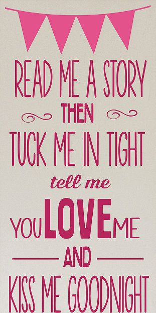 Cream  Pink 'Read Me a Story' Wall Art