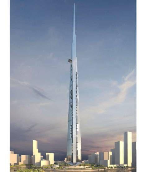Der Kingdom Tower entsteht derzeit in Jeddah (Saudi-Aradien). Mit einer geplanten Höhe von 1000 Metern wäre er höher als der Burj Khalifa! Geplante Fertigstellung: 2018, Der Kingdom Tower entsteht derzeit in Jeddah (Saudi-Aradien). Mit einer geplanten Höhe von 1000 Metern wäre er höher als der Burj Khalifa! Geplante Fertigstellung: 2018