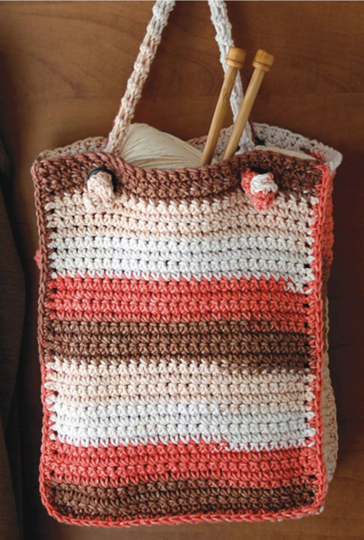 712 best handmade bags images on pinterest handmade handbags crocheted tote with knotted handle free pattern bankloansurffo Gallery