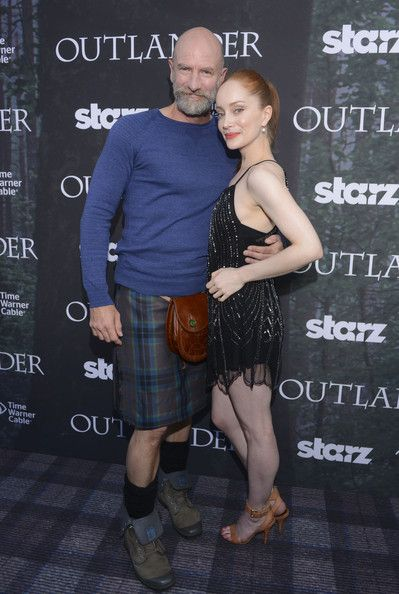 """Actor Graham McTavish and actress Lotte Verbeek attend the Starz Series """"Outlander"""" Premiere - Comic-Con International 2014 at Spreckels Theatre on July 25, 2014 in San Diego, California."""